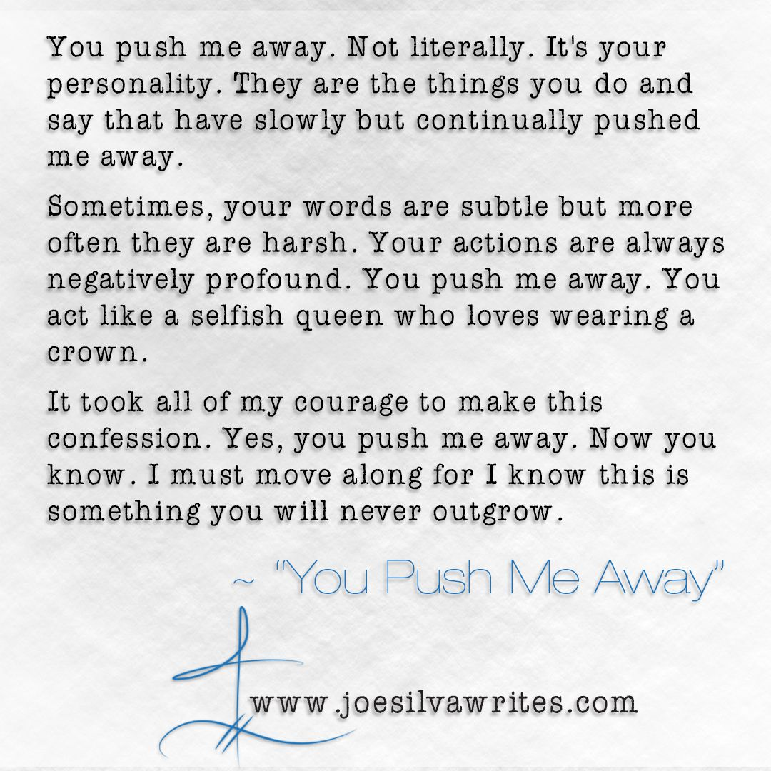 Excerpt from you push me away are you pushing someone away excerpt from you push me away are you pushing someone away you kristyandbryce Choice Image