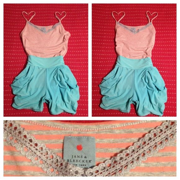 jane & bleeker top NWOT pink & grey striped jane & bleeker spaghetti strap shirt.this was a christmas gift and it has not been worn.i removed the tags and hung it up in my closet.perfect condition  jane & bleeker Tops Camisoles