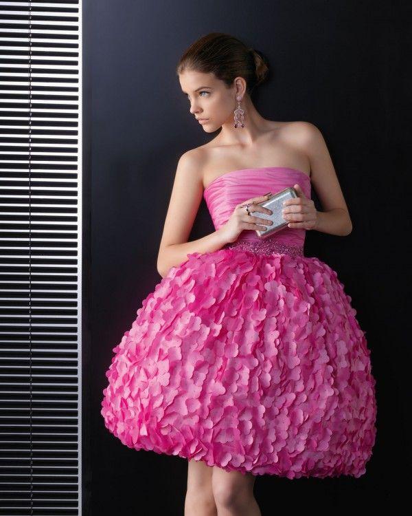 Duchesse-Linie Traegerlos mit Knielang Cocktailkleid #short #prom ...