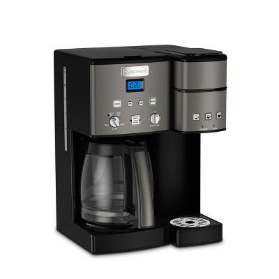 Cuisinart Combo 12 Cup And Single Serve Coffee Maker Black
