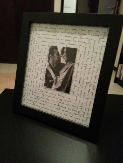 cool diy gifts to make for your boyfriend diy song lyrcis frame easy cheap and awesome gift ideas to make for guys fun crafts and presents to give to - What To Give Your Boyfriend For Christmas