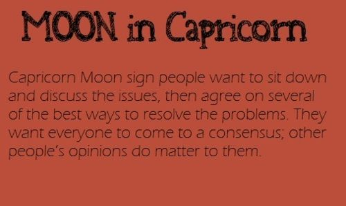 Moon in Capricorn Sign! | Moon Sign | Capricorn moon sign