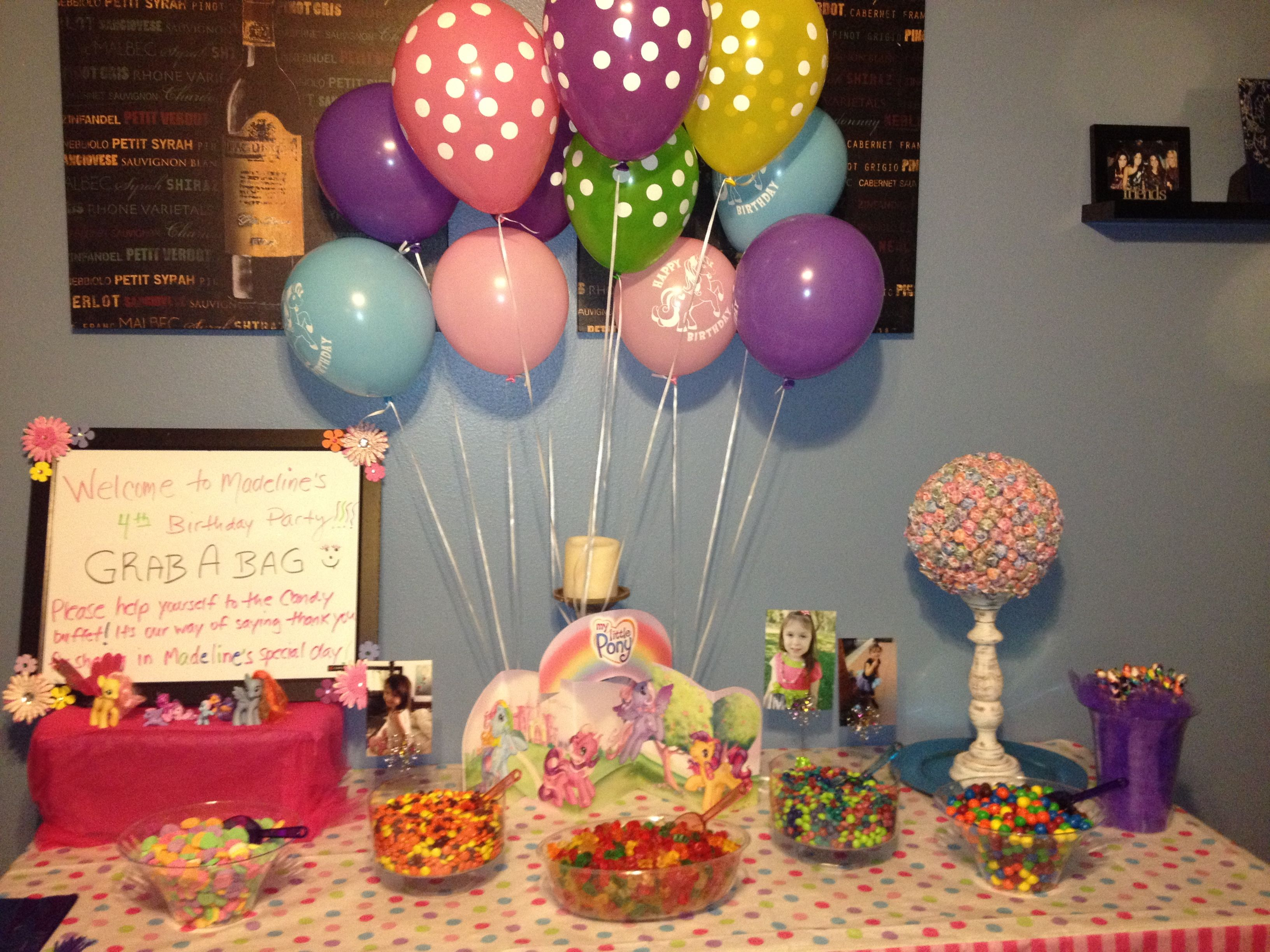 Candy bar at Madeline's My Little Pony Birthday Party was a hit ...