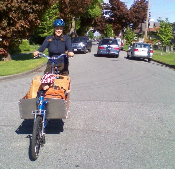 $3800.00 CAD Bicycle Family Precious Cargo Wood Box Bike: this is SUPER cool!