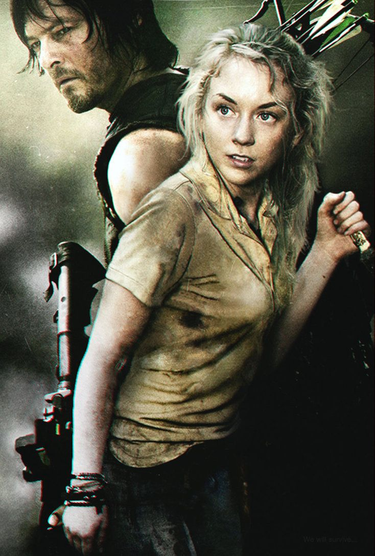 Andrew Lincoln Rick Grimes The Walking Dead Silk poster wallpaper 24 X 13 inches