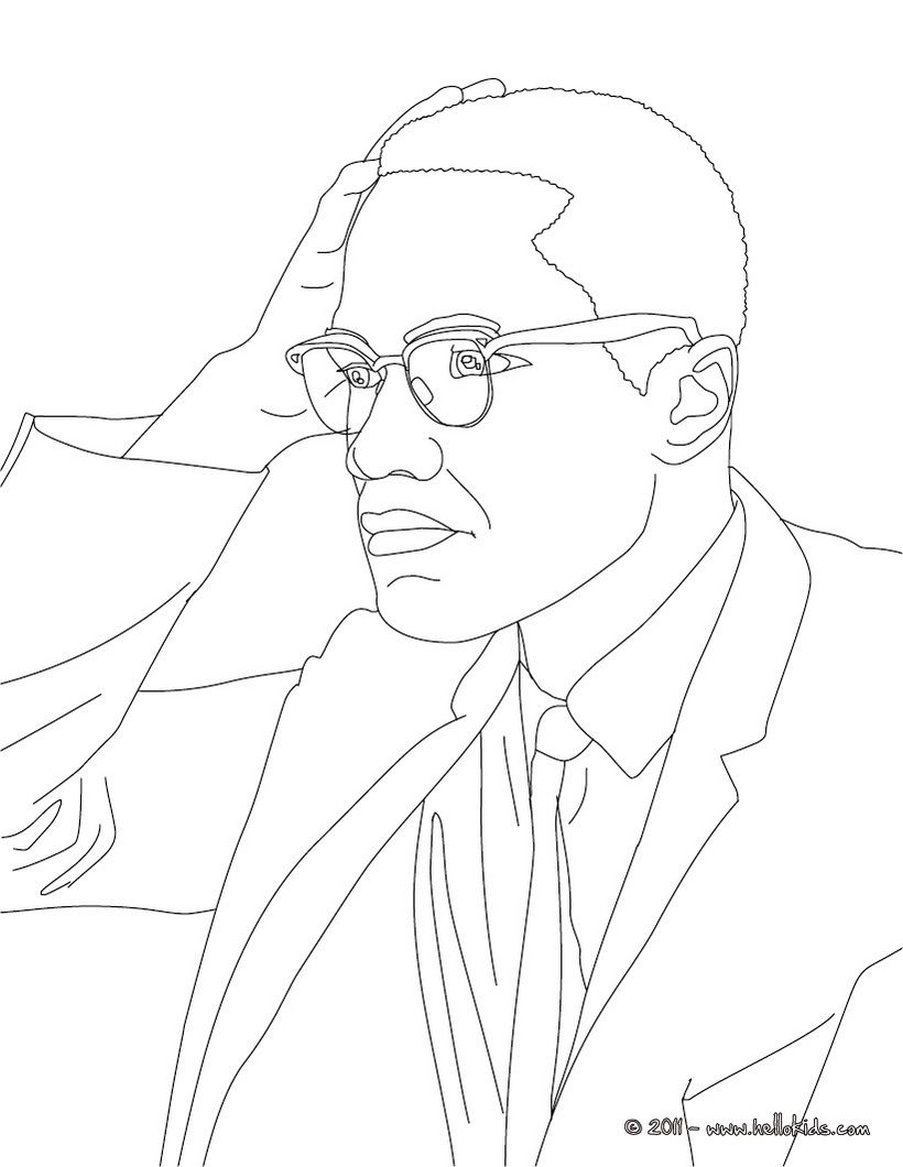 Malcolm X | coloring | Pinterest | Coloring pages, Color and Black ...