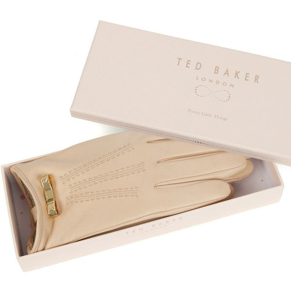 Ted Baker BOWLEE Bow detail leather gloves