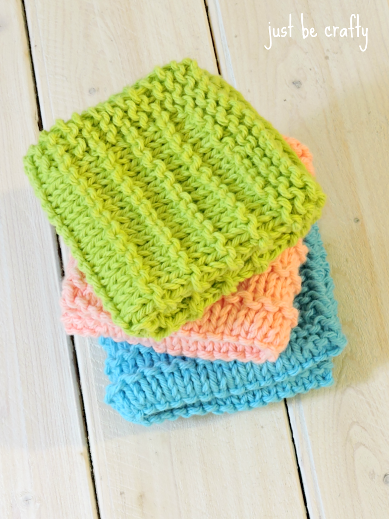 Farmhouse Kitchen Knitted Dishcloths | Knitted dishcloths, Modern ...