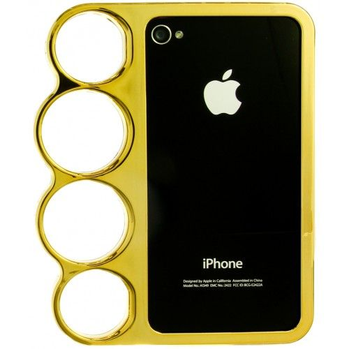 GOLD KNUCKLE IPHONE 4/4S + 5 CASE. IPHONE 5 TECH