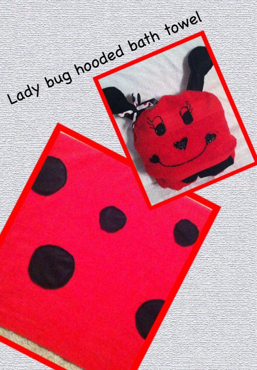 Lady bug hooded bath towel!