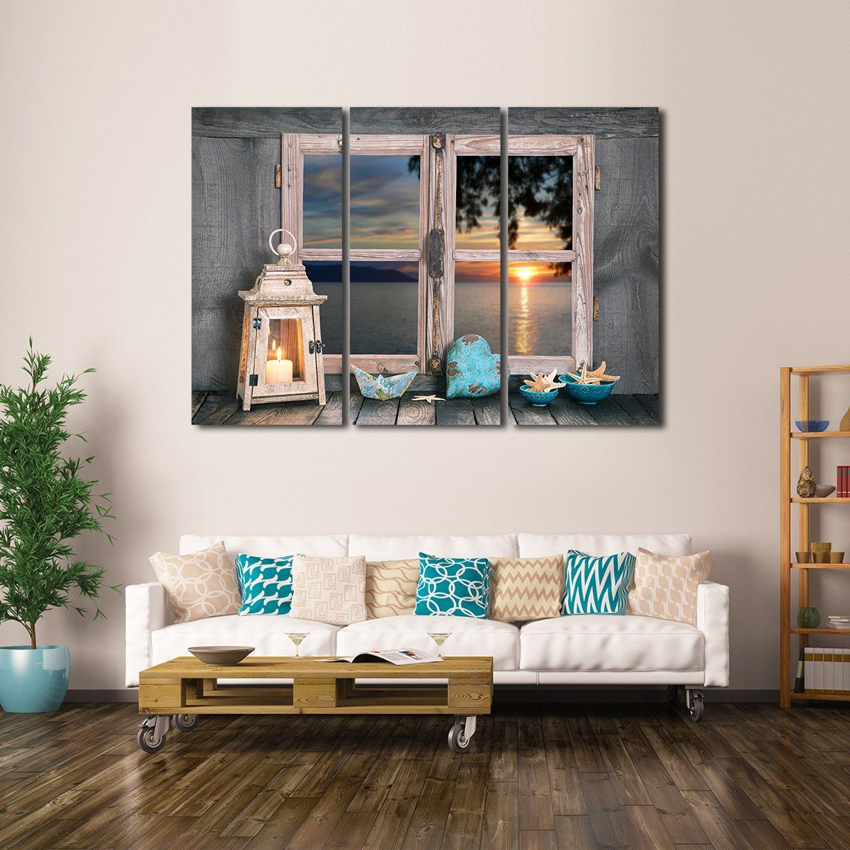 Window To The Ocean Multi Panel Canvas Wall Art Wall Canvas Canvas Wall Art Multi Panel Canvas