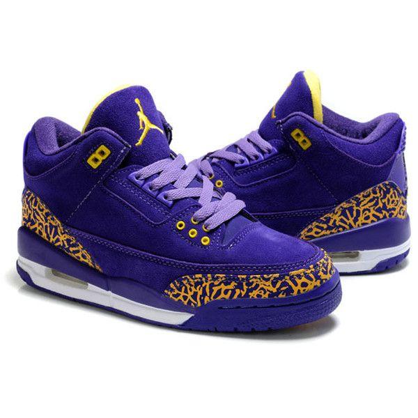 Women Michael Jordan 3 Shoes Purple and