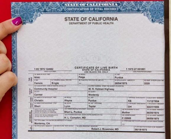 California Birth Certificate Template Get Vital Record Virtual Templates