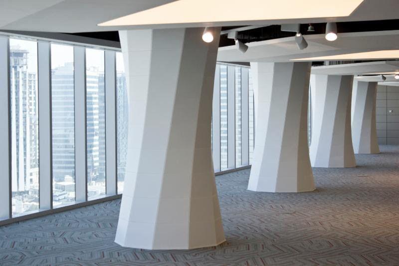 Beautiful New Seeyond Installation: See Five Column Wraps Transform Space    Blleedom@gmail.com