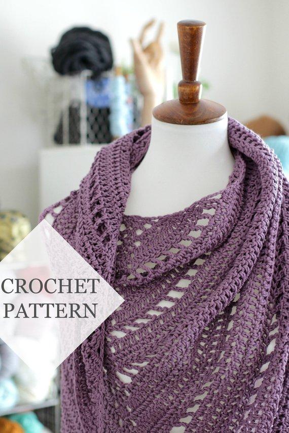 Free Yourself Crochet Shawl Pattern Crochet Pdf Pattern Tutorial