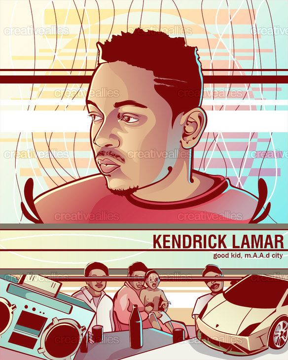 Kendrick Lamar Poster by RomObs on CreativeAllies.com