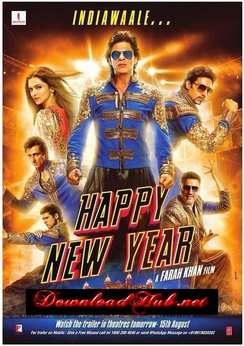 Poster Of Bollywood Movie Happy New Year 2014 300mb Compressed Small Size Pc Movie Free Download Happy New Year Bollywood Happy New Year Movie New Year Movie
