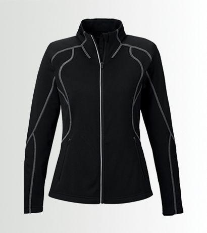 Planet Fitness Women S Pf Performance Fleece Jacket Image Fleece Jacket Jacket Images Planet Fitness Workout