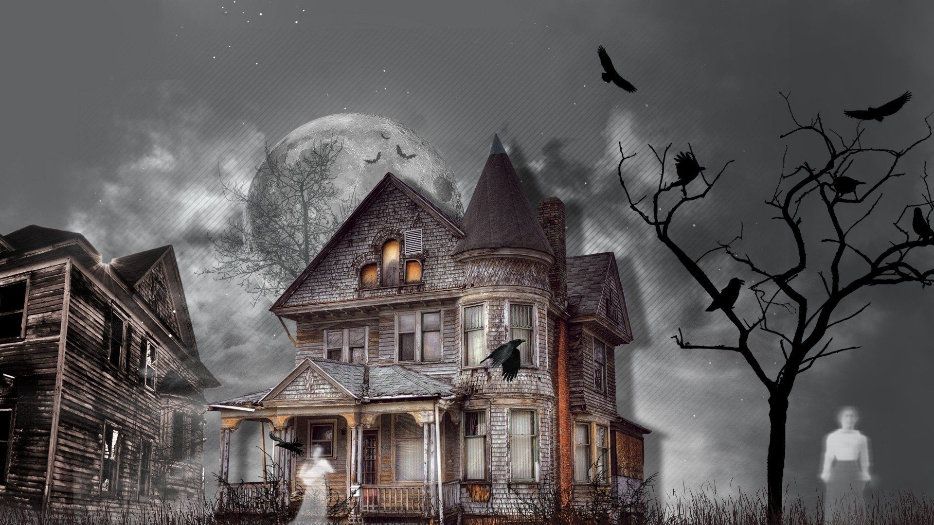 1920x1080 Haunted House Wallpaper Background Image. View