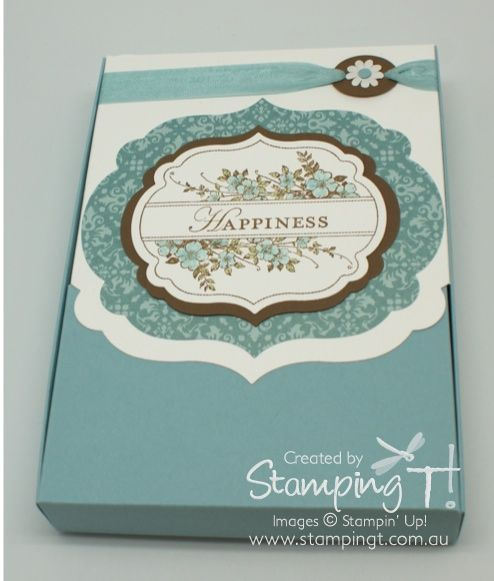 Stampin' Up! Stamping T! - Framelit Card Box