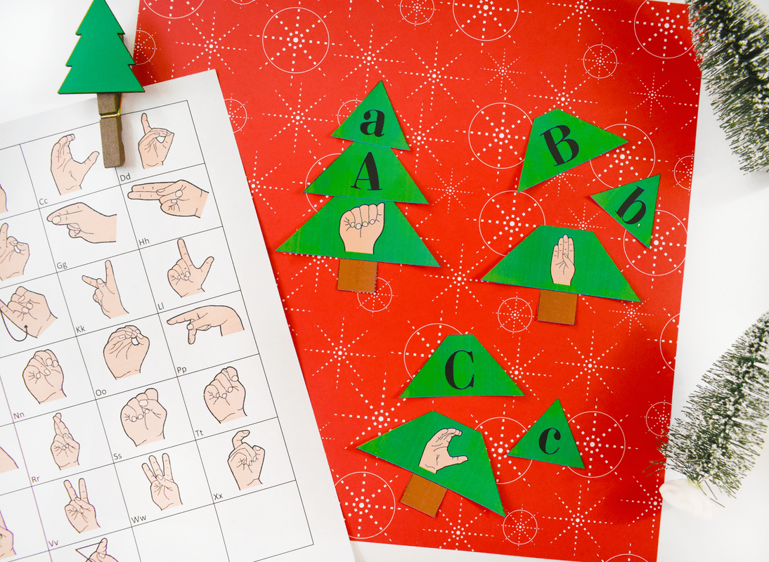 Christmas Tree Worksheet Build A Tree Matching Letters