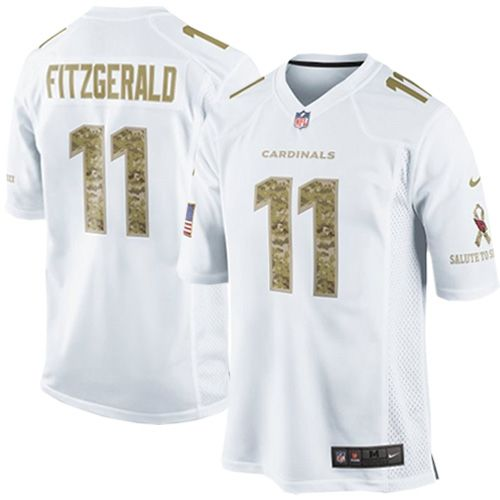 c7038c447a97 Limited Larry Fitzgerald Mens Jersey - Arizona Cardinals 11 Salute to  Service White Nike NFL