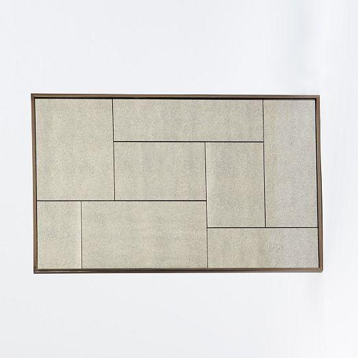 Multi Panel Foxed Mirror Bronze Finish Oil Rubbed