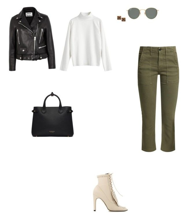 """Untitled #5264"" by anamaria-zgimbau ❤ liked on Polyvore featuring The Great, Acne Studios, Sergio Rossi, Burberry, Ray-Ban and Ashley Pittman"