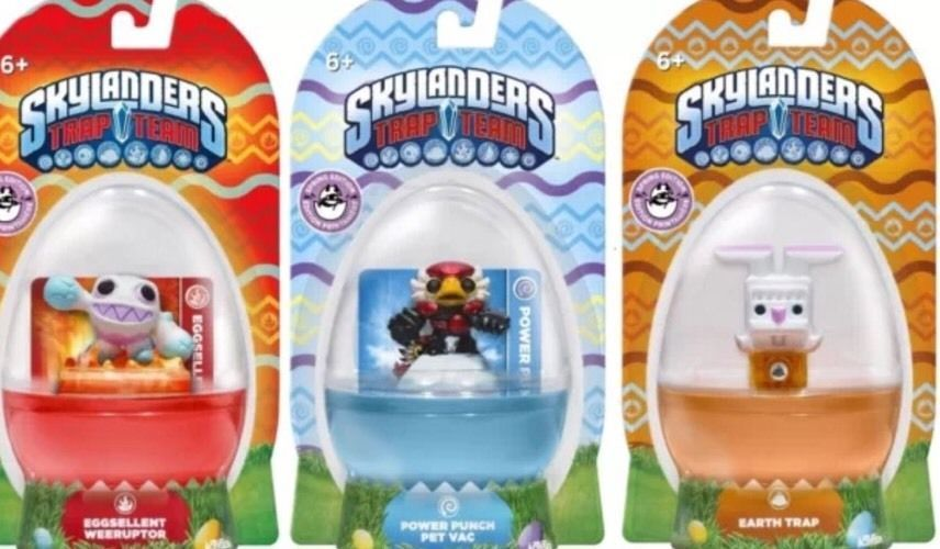 REDUCED PRICE!!! SKYLANDERS TRAP TEAM Limited Release Egg Shaped 3-pack Weeruptor Pet Vac Earth #Activision