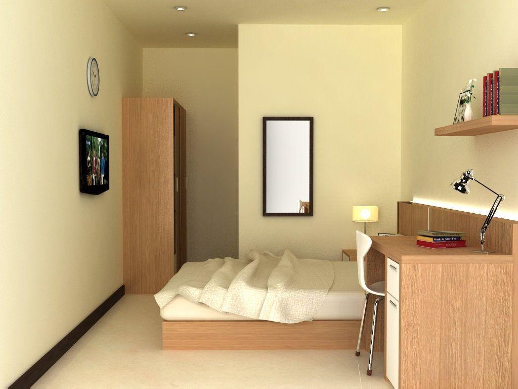 Gaya Menata Kamar Kost Ukuran 3x3 Kreatif Desain Interior Dekorasi Kamar Apartemen Interior Minimalist bedroom design meters