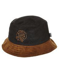 QUIET LIFE SUEDE BUCKET HAT - BLACK BROWN  5f7e1580c2e7
