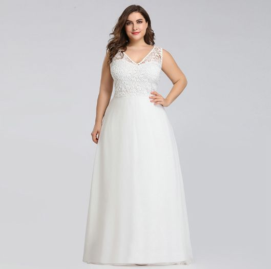 Photo of Plus Size Lace Beach Wedding Dresses