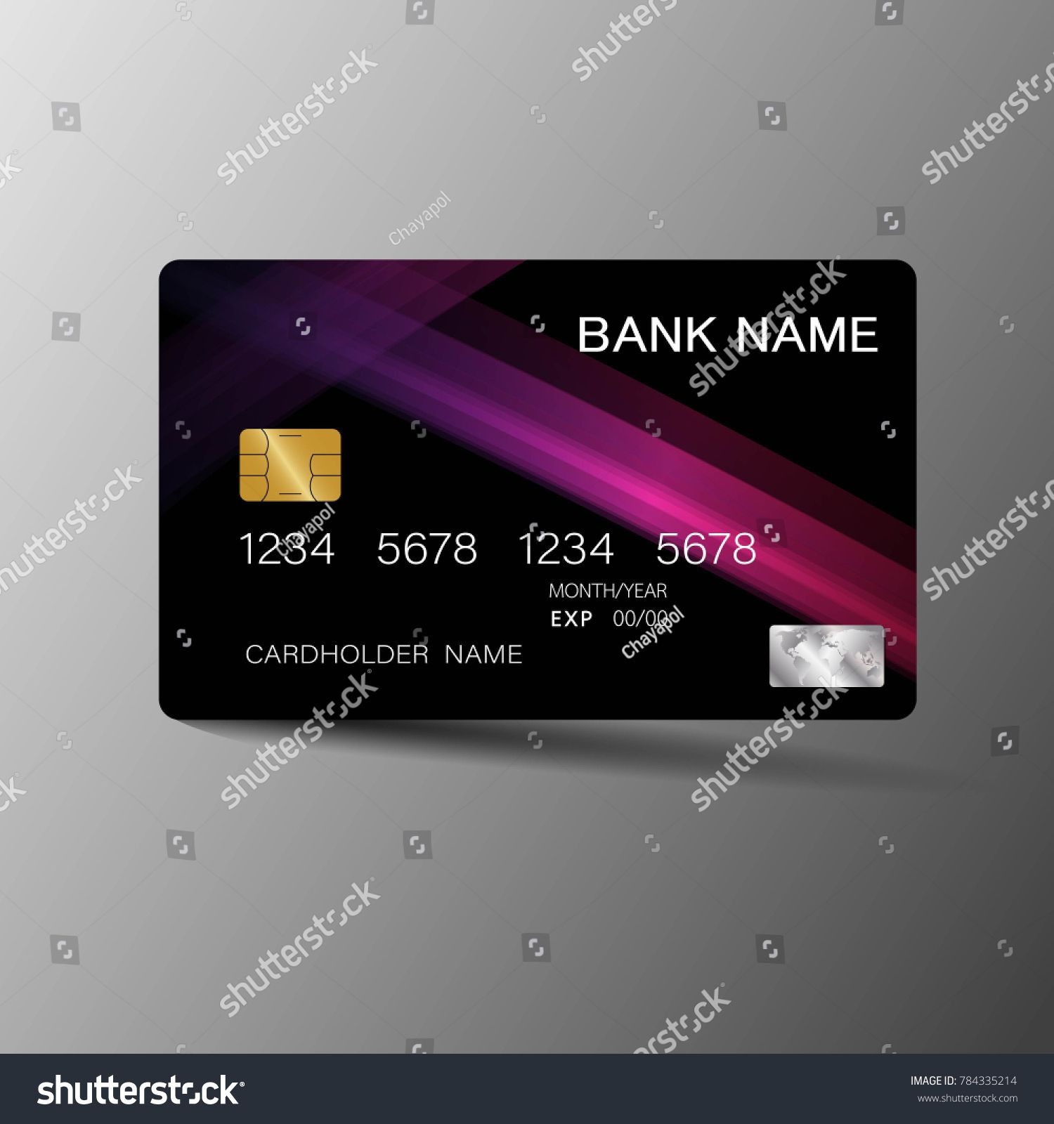 Modern Credit Card Template Design With Inspiration From The
