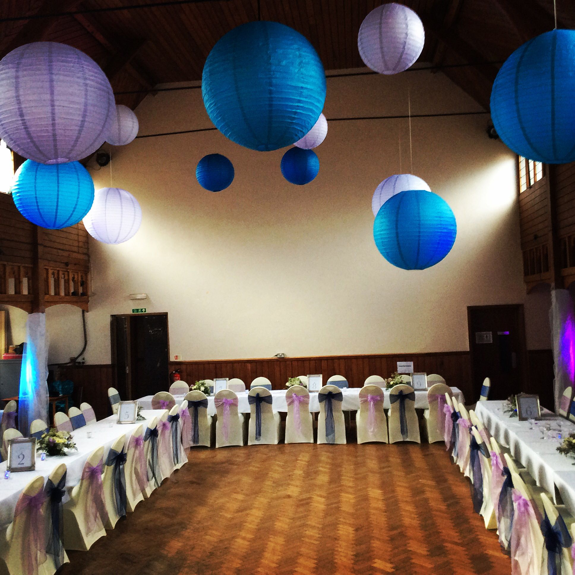 Lilac and blue wedding decor for local church hall lilac and blue lilac and blue wedding decor for local church hall junglespirit