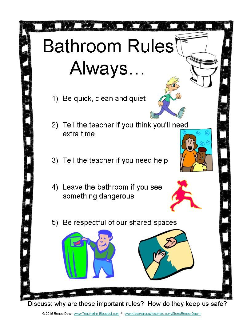 bathroom rules  photos  routines  signs  safety  bathroom