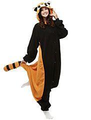 837aa82c3 Adult Raccoon Onesie Polar Fleece Pajamas Cartoon Sleepwear Animal  Halloween Cosplay Costume Unisex