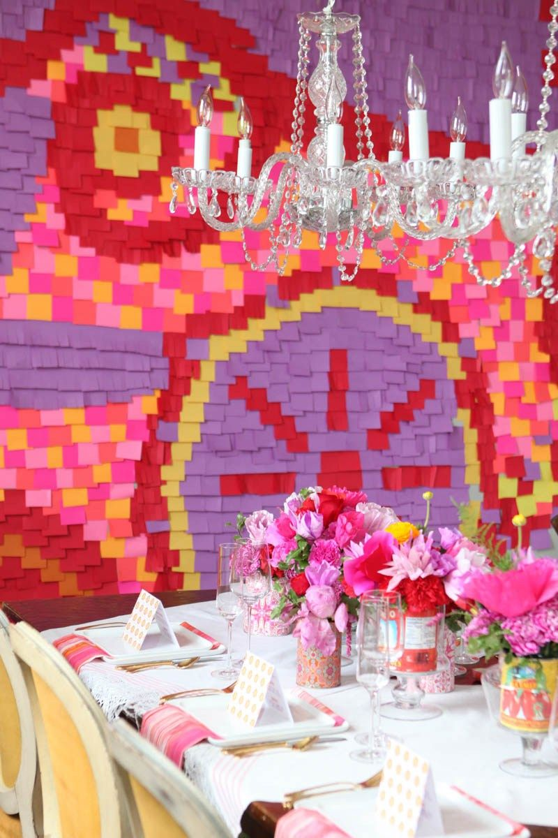 Clever Ways To Decorate Your Wedding Reception Using Paper Table