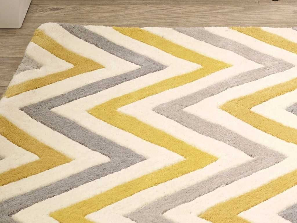 Cabone Yellow Grey Wool Contemporary Wool Rugs Wool Rug Grey Wool Rugs