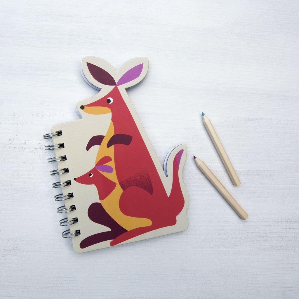 Kangaroo Notebook   dotcomgiftshop