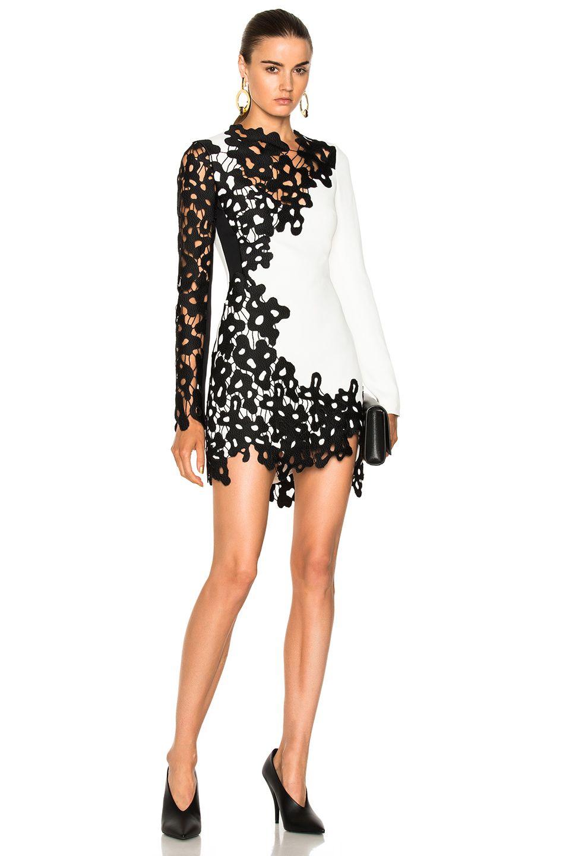 David Koma Lace Sleeve Insert Mini Dress Davidkoma Cloth