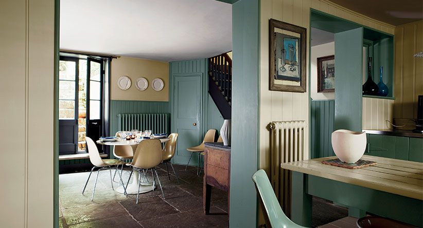 Best F B Green And Cream Farrow And Ball Kitchen Interior 400 x 300