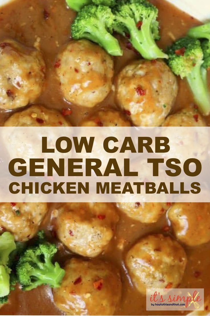 low carb general tso chicken meatballs is a recipe you don