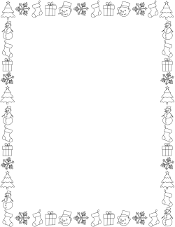 Holiday Doodle Border 1 Doodle Borders Doodles Holiday