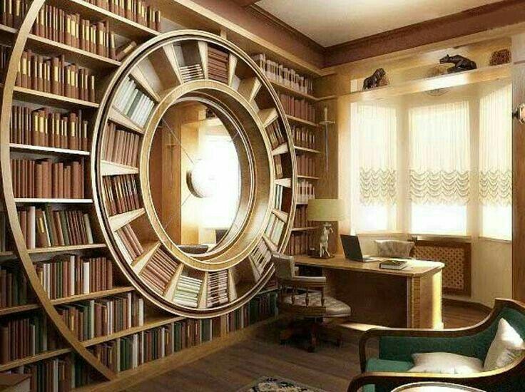 Circular Statement Bookcase