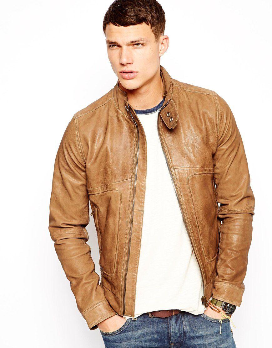 G Star Leather Jacket [ 1110 x 870 Pixel ]