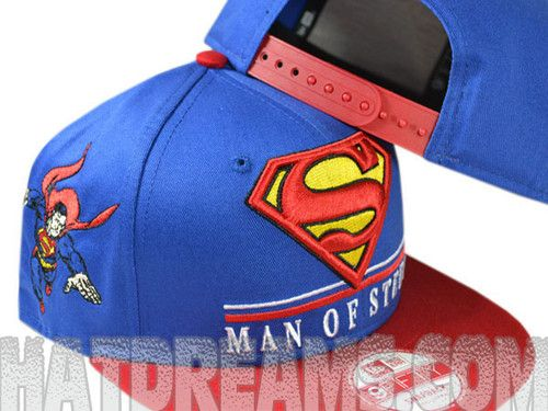 M~XL WB DC Comics Justice League Superman Mesh Stretch Fit Cap Flexfit Hats S~M
