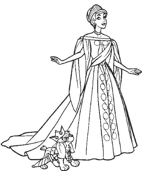 anastasia coloring pages Princess Anastasia With Dog Coloring Pages | Coloring Page  anastasia coloring pages