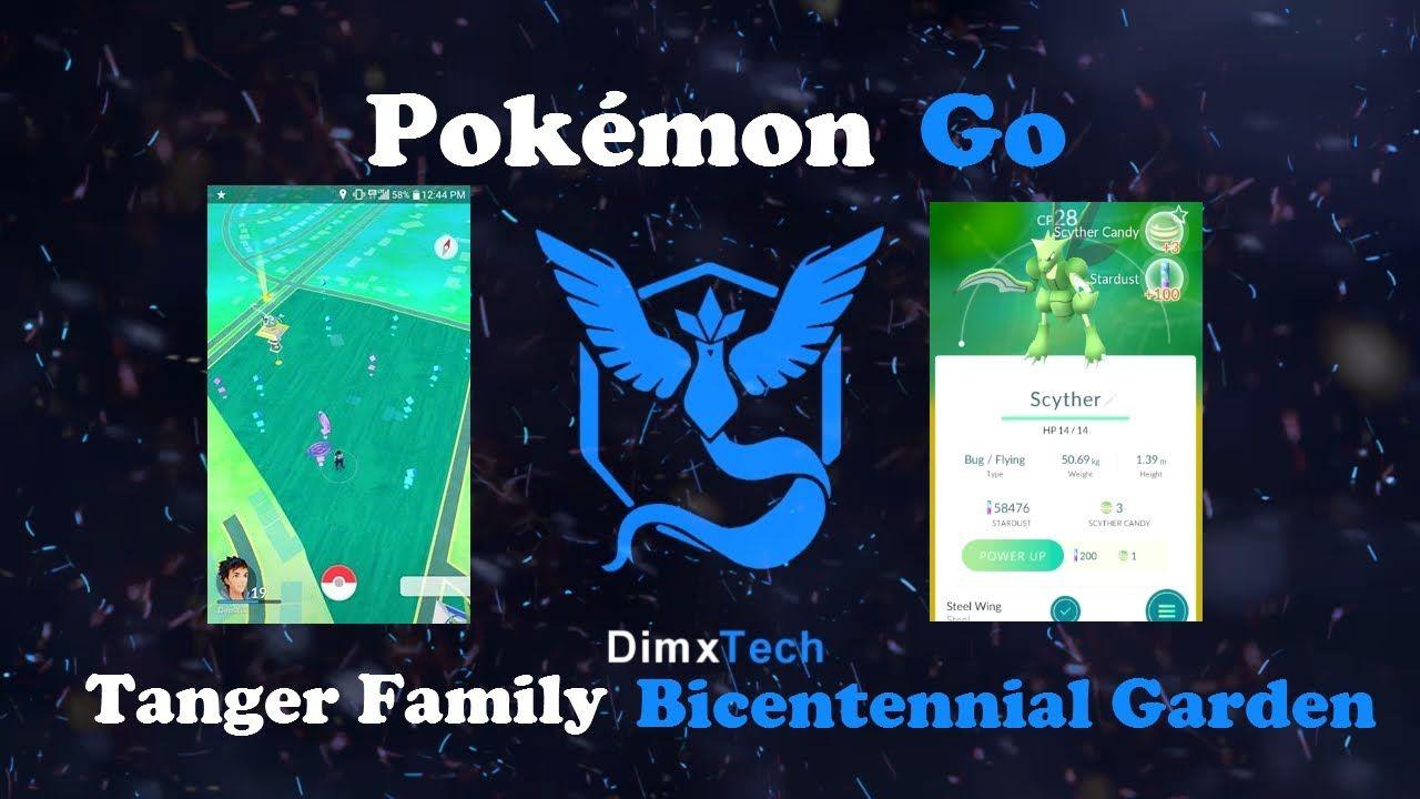 Pokemon Go At Tanger Family Bicentennial Garden Vlog 1 Pokemon Go Pokemon Vlogging