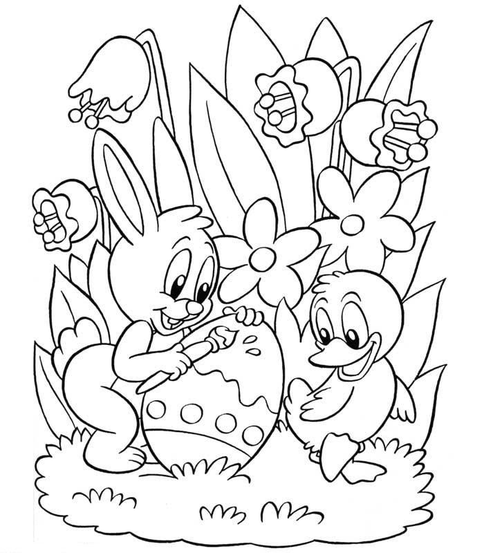 coloring pages 001 easter 55 entertainment holidays free