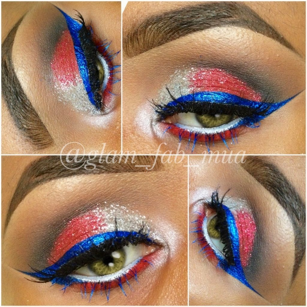 4th of July MakeUp | 4th of july makeup, Makeup